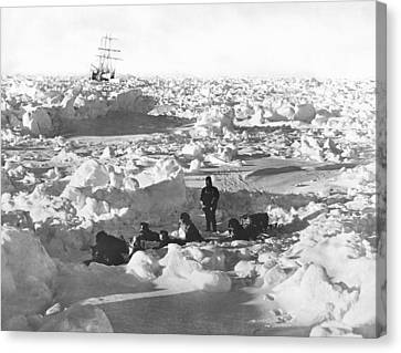 Shackleton's Antarctic Venture Canvas Print by Underwood Archives