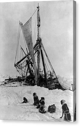 Shackletons Endurance Trapped In Pack Canvas Print by Science Source