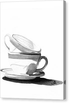 Canvas Print featuring the drawing Shade by Denise Deiloh