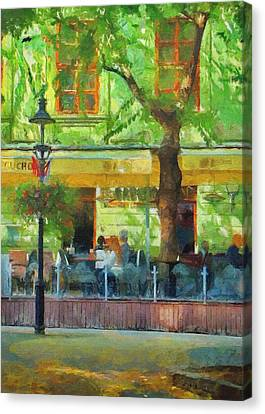 Shaded Cafe Canvas Print by Jeff Kolker