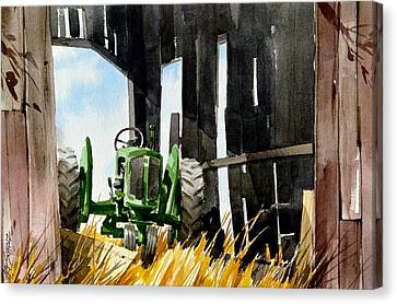 Shaded Shed Canvas Print by Art Scholz