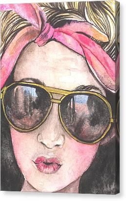 Shades Canvas Print by Kim Whitton