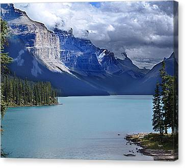 Shades Of Blue And Turquoise Canvas Print