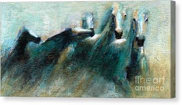 Shades Of Blue Canvas Print by Frances Marino