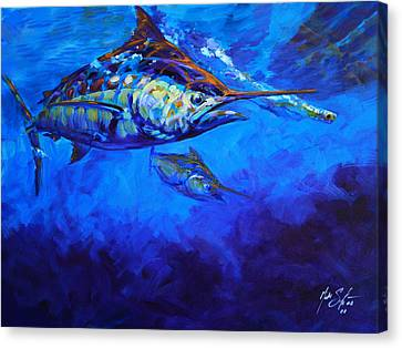 Shades Of Blue Canvas Print by Savlen Art