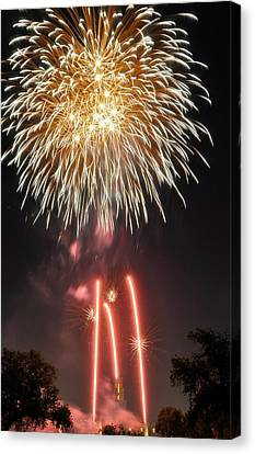 Canvas Print featuring the photograph Shades Of Gold Explode by Kevin Munro