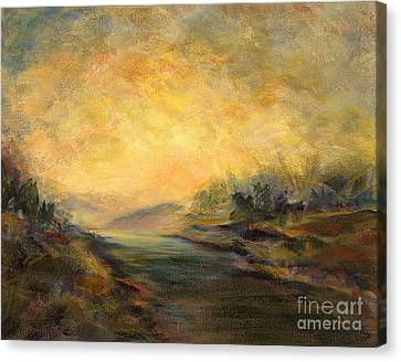 Shades Of Late Afternoon Canvas Print by Addie Hocynec