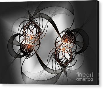 Shades Of Metal Canvas Print by Andee Design