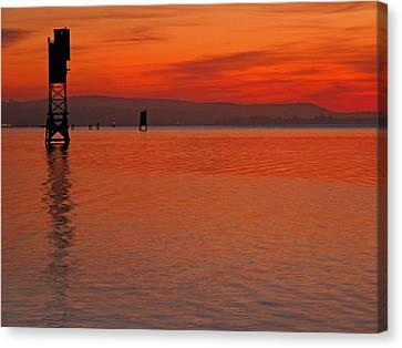 Canvas Print featuring the photograph Shades Of Orange by Suzy Piatt