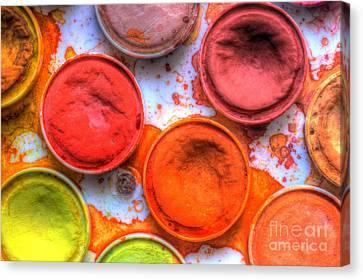 Shades Of Orange Watercolor Canvas Print by Heidi Smith