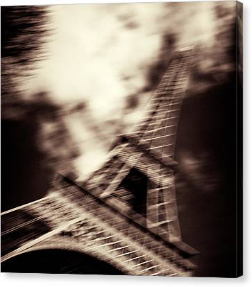 Shades Of Paris Canvas Print by Dave Bowman