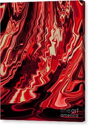 Shades Of Red And Black Blending Together Flowing Rippled Motion Canvas Print