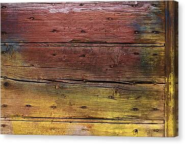 Canvas Print featuring the digital art Shades Of Red And Yellow by Ron Harpham