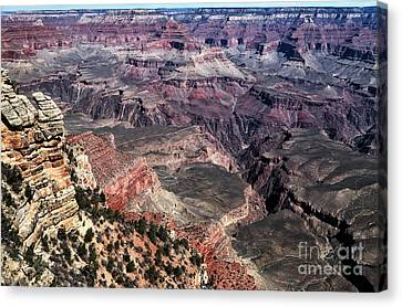 The Grand Place Canvas Print - Shades Of The Canyon by John Rizzuto