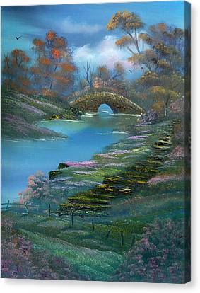 Shades Of The Orient. Canvas Print by Cynthia Adams