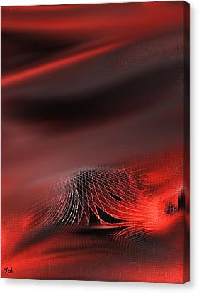 Shades Series Fire Red Canvas Print