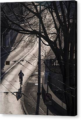 Canvas Print featuring the photograph Shadow And Light by Muhie Kanawati