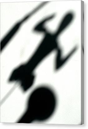 Shadow Art Canvas Print by Godfrey McDonnell