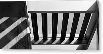 Canvas Print featuring the photograph Shadow Lines - Architectural Abstracts by Steven Milner