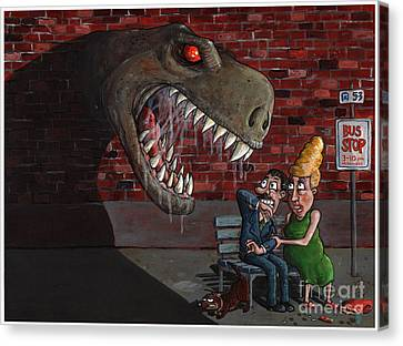 Shadow Monster Canvas Print by Richardson Comly