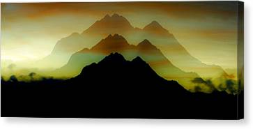 Shadow Mountain Canvas Print by Ron Day