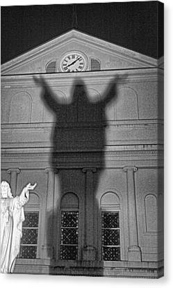 Shadow Of Christ Canvas Print by James  Bond