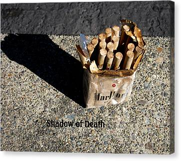 Canvas Print featuring the photograph Shadow Of Death by Marie Neder