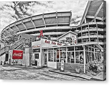 Shadow Of The Stadium - Select Color Canvas Print