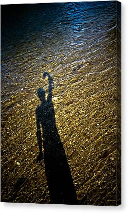 Canvas Print featuring the photograph Shadow On The Water by Joel Loftus