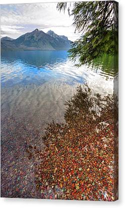 Canvas Print featuring the photograph Shadow Pebbles by David Andersen