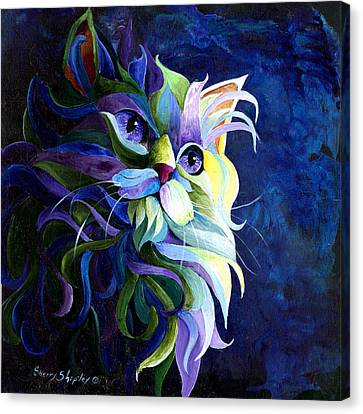 Shadow Puss Canvas Print by Sherry Shipley