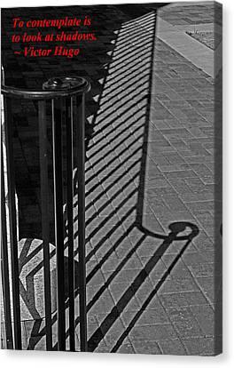 Shadow Railing Canvas Print