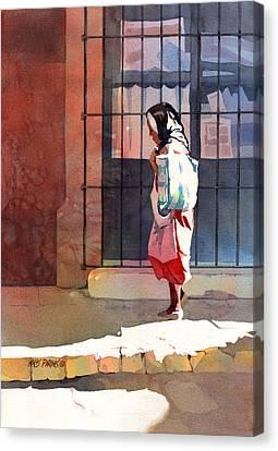 Shadow Woman Canvas Print by Kris Parins