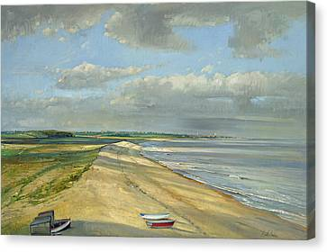 Shadowed Crescent, Dunwich Oil On Canvas Canvas Print