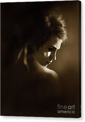 Character Study Canvas Print - Shadowlight by Robert Foster