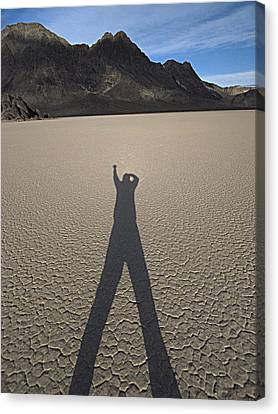 Canvas Print featuring the photograph Shadowman by Joe Schofield