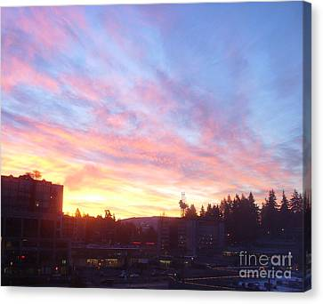 Shadows And Color In The Pacific Northwest Canvas Print by Alexander Van Berg