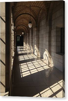 Shadows And Stone Canvas Print by Rod Seel