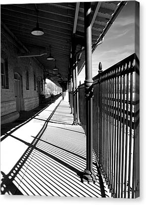 Shadows At The Station Canvas Print by Denise Beverly