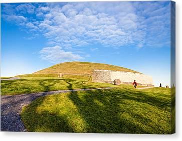 Shadows Fall On Newgrange In Ireland Canvas Print by Mark E Tisdale