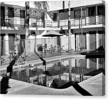 Shadows In Paradise Palm Springs Canvas Print by William Dey