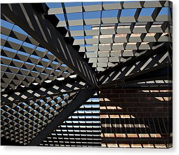 Canvas Print featuring the photograph Shadows by Judy  Johnson