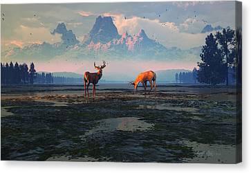 Shadows Of Creation Canvas Print by Dieter Carlton