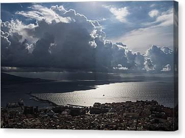 Canvas Print featuring the photograph Shadows Of Clouds by Georgia Mizuleva