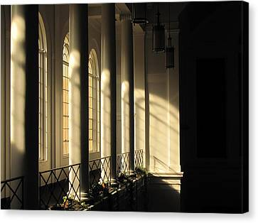 Shadows Of Light Canvas Print by Laura Watts
