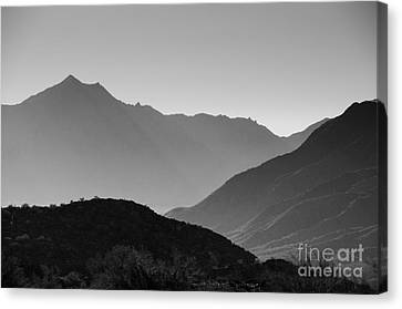 Shadows Of Peaks Canvas Print