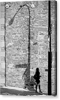Shadows On St-laurent Canvas Print by Valerie Rosen