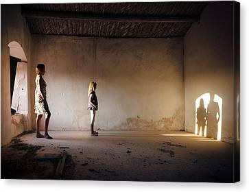 Shadows Reborn - Convergence Canvas Print by Alfio Finocchiaro
