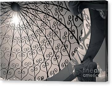 Canvas Print featuring the photograph Shadows Through The Gazebo by Mark David Zahn