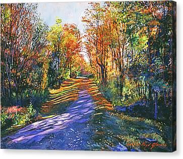 Shady Lane Canvas Print by David Lloyd Glover